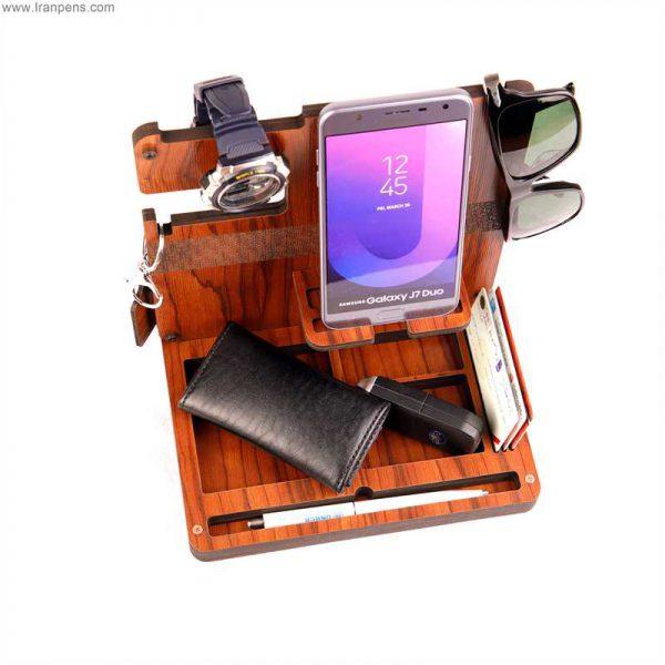 استند رومیزی چوبی - جای موبایل چوبی