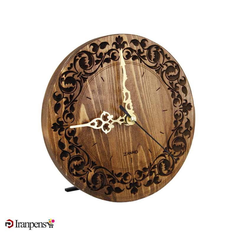 ساعت رومیزی چوبی